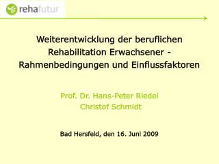 """RehaFutur """"Architektur"""" Ausgangsfragen Rahmenbedingungen u. Einfluss-faktoren Makrofaktoren"""