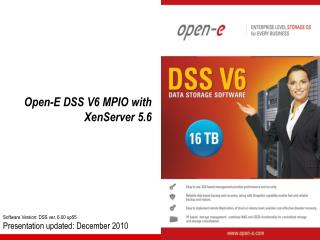 Open-E DSS V6 MPIO  with  XenServer 5.6