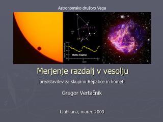 Merjenje razdalj v vesolju