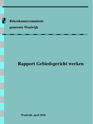 Rekenkamercommissie gemeente Waalwijk