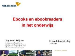 Ebooks en ebookreaders in het onderwijs
