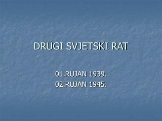 DRUGI SVJETSKI RAT