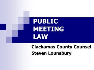 PUBLIC  MEETING  LAW