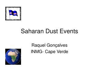 Saharan Dust Events