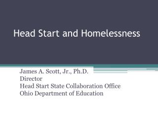 Head Start and Homelessness