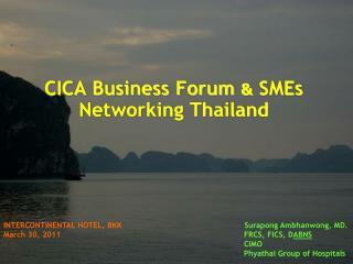 CICA Business Forum  &  SMEs Networking Thailand