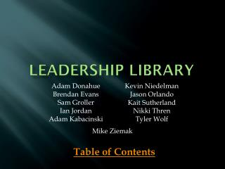 Leadership Library