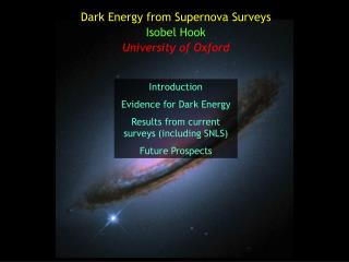 Dark Energy from Supernova Surveys Isobel Hook University of Oxford