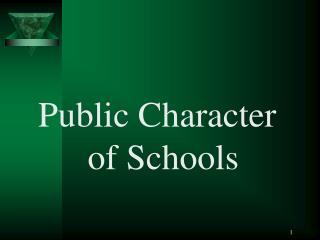 Public Character of Schools