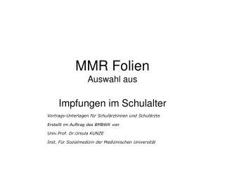 MMR Folien Auswahl aus