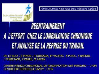 DR LE BLAY , S PINON , P QUESADA, JP VALERO,  A PUJOL, X BAGNOL  I PERRETANT, P PARES, M PAVAN  CENTRE MEDICO CHIRURGICA