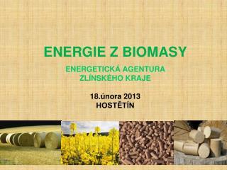 ENERGIE Z BIOMASY ENERGETICKÁ AGENTURA   ZLÍNSKÉHO KRAJE 18.února 2013 HOSTĚTÍN