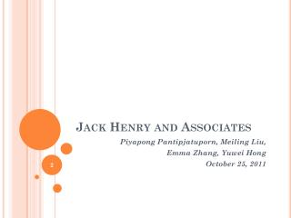 Jack Henry and Associates