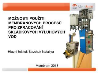 Možnosti použiti membránových procesů pro zpracování skládkových výluhových vod