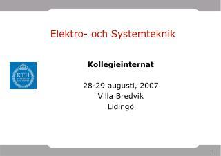 Elektro- och Systemteknik