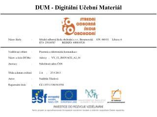 Předtisk adres ČSN 88 6101 a ČSN 01 6910