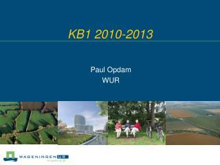 KB1 2010-2013