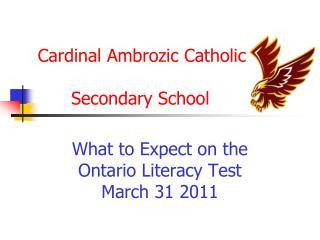 Cardinal Ambrozic Catholic       Secondary School