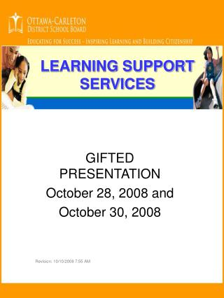 LEARNING SUPPORT SERVICES