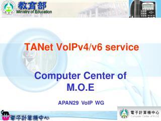 TANet VoIPv4/v6 service
