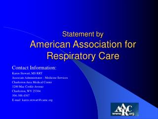 Statement by  American Association for Respiratory Care