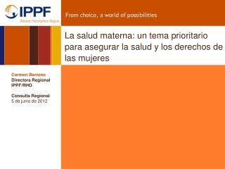 La salud materna: un tema prioritario para asegurar la salud y los derechos de las mujeres