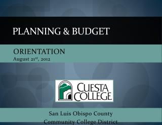 Planning & budget