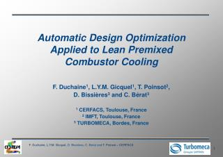 Automatic Design Optimization Applied to Lean Premixed Combustor Cooling
