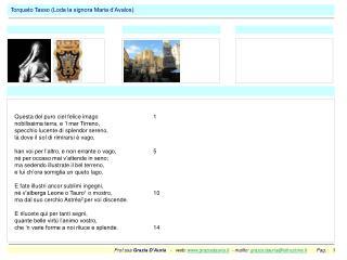 Torquato Tasso (Loda la signora Maria d'Avalos)