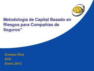 """Metodología de Capital Basado en Riesgos para Compañías de Seguros"""""""