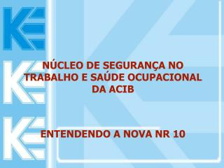 N CLEO DE SEGURAN A NO TRABALHO E SA DE OCUPACIONAL DA ACIB   ENTENDENDO A NOVA NR 10