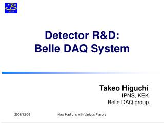 Detector R&D: Belle DAQ System