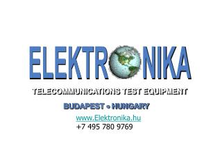 TELECOMMUNICATIONS TEST EQUIPMENT