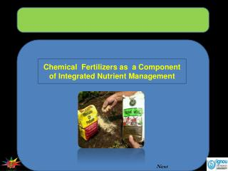 Chemical  Fertilizers as  a Component of Integrated Nutrient Management
