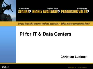 PI for IT & Data Centers