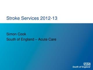 Stroke Services 2012-13