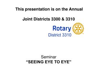 Welcome All Rotarians