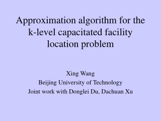 Approximation algorithm for the k-level capacitated facility location problem