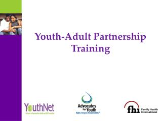 Youth-Adult Partnership Training