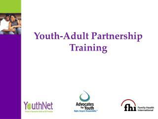 Youth-Adult Partnership Training