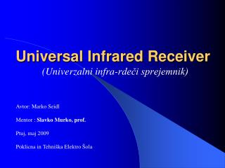 Universal Infrared Receiver