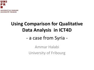 Using Comparison  for Qualitative Data Analysis  in  ICT4D - a case from Syria -