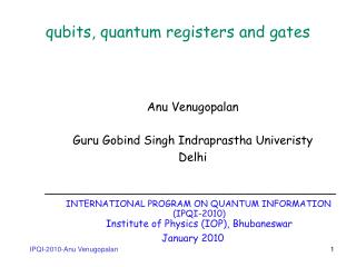qubits, quantum registers and gates