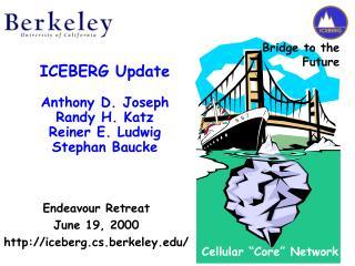 ICEBERG Update Anthony D. Joseph Randy H. Katz Reiner E. Ludwig Stephan Baucke
