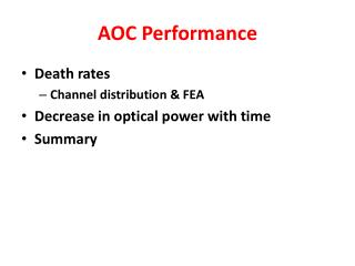AOC Performance