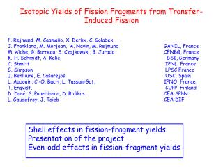 Isotopic Yields of Fission Fragments from Transfer-Induced Fission