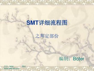 SMT 详细流程图 之邦定部份