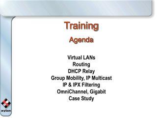 Training Agenda