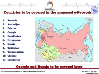 Countries to be covered in the proposed e-Network