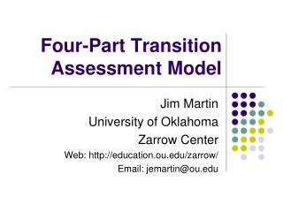 Four-Part Transition Assessment Model
